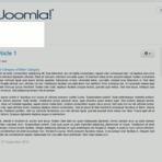 Como criar um menu horizontal em Joomla