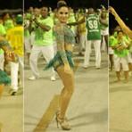 Rainha de bateria: Claudia Leitte estreia na Sapucaí em ensaio técnico da Mocidade (Vídeo)
