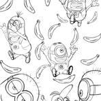 Pintura - Ilustração Minions em PB