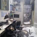 Fotos mostram universidade após fogo no Rio de Janeiro