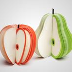 Design - Blocos de notas em formato de maçãs e peras
