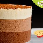 Hoje eu vou de... Torta Tricolor - Delivery tortas, Bolos, doces