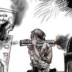 Internacional - Palestino suspenso e investigado por charge de Maomé critica pressões de Hamas e Israel