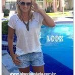 Blog da Estela: Look - short e blusa