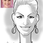 Pintura - Caricatura da Ana Hickman em PB