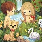 Adão e Eva.