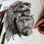 Desenho em andamento de Hércules