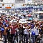 Protesto brasileiro e argentino