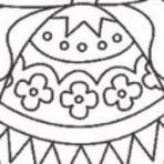Pintura - Desenhos de ovos de páscoa para colorir