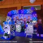 Frozen - Decoração de festa infantil em mesa provençal