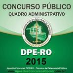 Apostila Concurso DPE-RO Técnico Administrativo - Defensoria Pública do Estado de Rondônia (2015)