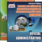 Livros - Apostila OFICIAL ADMINISTRATIVO - Concurso Hospital das Clínicas de São Paulo (HCFMUSP) 2015