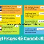 Widget Postagens mais Comentadas Estilo Colorido no Blogger