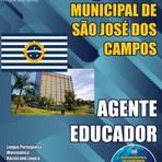Apostila Concurso Prefeitura Municipal  de São José dos Campos 2015 cargo de Agente Educador