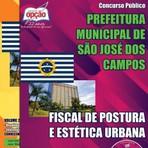 Apostila Concurso Prefeitura Municipal de São José dos Campos  2015 Fiscal de Posturas e Estética Urbana