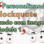 Como Personalizar o Blockquote do blog - Modelo 1 / Fundo com imagem