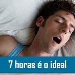 Dormir 7 horas por dia é o tempo ideal