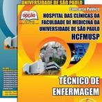 Apostila TÉCNICO DE ENFERMAGEM - Concurso Hospital das Clínicas de São Paulo (HCFMUSP) 2015