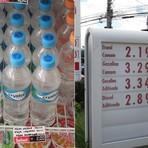 Litro da água mineral é mais caro que o da gasolina em postos de SP