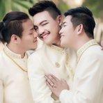 Sodoma Moderna: Três homens se casam na Tailândia no primeiro casamento gay do tipo no mundo