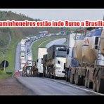 Video mostra caminhoneiros viajando em caravana rumo a Brasilia