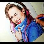 Desenhado a cantora Demi Lovato