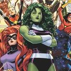 Marvel reúne primeira equipe dos Avengers somente com personagens femininos