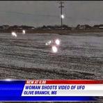 Mulher filma OVNI / UFO emitindo luzes nos EUA