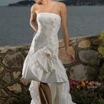 Vestidos de noiva curtos com cauda