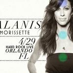 """Alanis Morissette fará show no """"Hard Rock Orlando"""""""