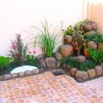 Jardins com cascata para residencias