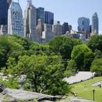 Turismo no Central Park em Nova York