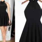 Belos vestidos pretos que estão na moda