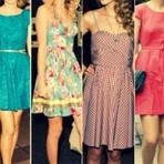 Moda Jovem vestidos estilosos e maravilhosos