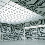 Arte psicodélica em instalações hipnóticas de Peter Kogler