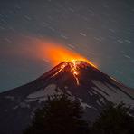Imagens lindas de um vulcão