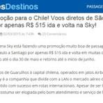 PROMOÇÃO DE PASSAGEM AÉREA PARA O CHILE!!!