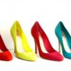 Sapatos scarpin coloridos