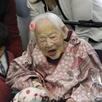 117 anos de idade hoje Misao Okawa, a pessoa mais velha do mundo