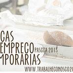VAGAS DE EMPREGO TEMPORÁRIO PÁSCOA 2015