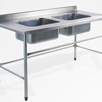 Fabricante de mesa inox com cuba - Solution Inox