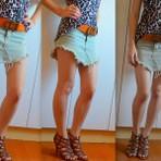 Lindas saias jeans desfiadas e muito sensuais