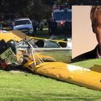 Ator famoso Harrison Ford sofre acidente de avião nos EUA e seu estado é grave