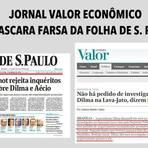 Presidenta Dilma nem foi investigada na Lava Jato, mas Folha e Estadão a igualam com Aécio