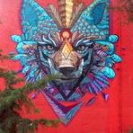 Pintura mural transforma paredes ociosas em galerias de arte
