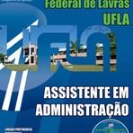 Concurso Universidade Federal de Lavras  ASSISTENTE EM ADMINISTRAÇÃO