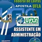 Apostila UFLA Lavras-MG - cargo de Assistente em Administração - Impressa Grátis CD - Digital em PDF