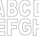 Moldes de letras do alfabeto grandes para imprimir