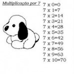 Tabuada do 7 para você estudar a matemática