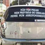 As melhores mensagens em carros, adesivos insanos.